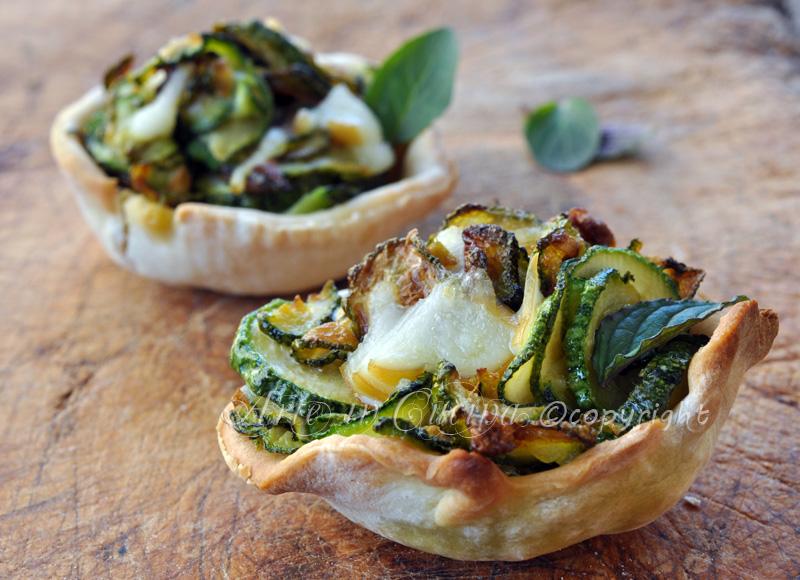 Cestini con zucchine ricetta finger food vickyart arte in cucina