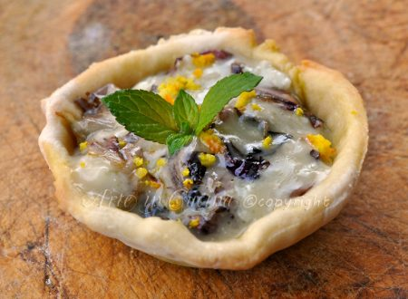Cestini gorgonzola e radicchio ricetta finger food