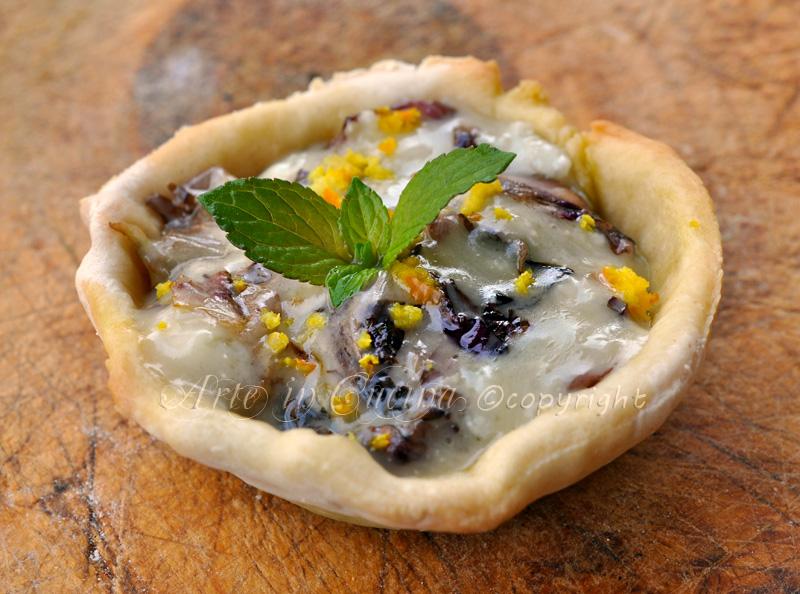 Cestini gorgonzola e radicchio ricetta finger food vickyart arte in cucina