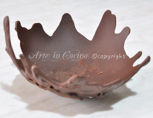 Cestino di cioccolato con foto passo passo