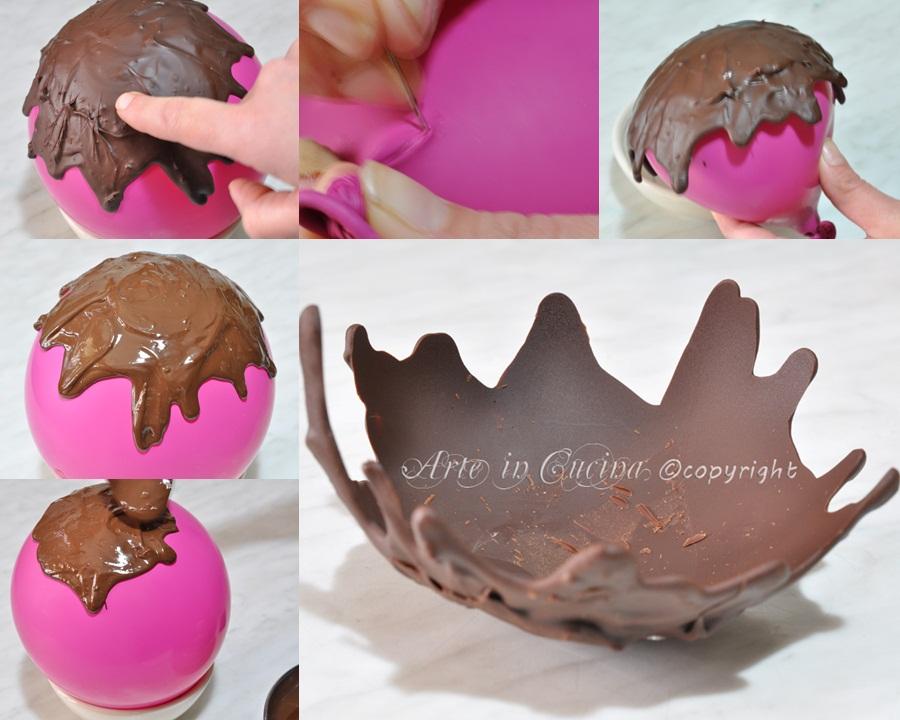 Cestino di cioccolato con foto passo passo ricetta rat ein cucina