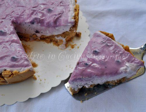 Cheesecake allo yogurt di mirtilli