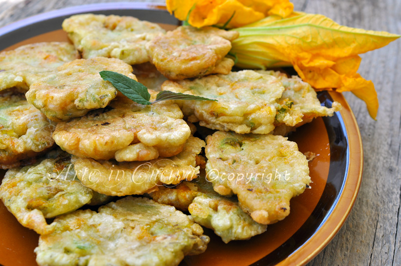 Frittelle Di Fiori Di Zucchine