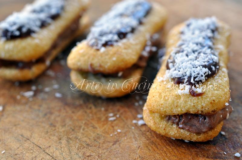 Pavesini mascarpone nutella e cocco vickyart arte in cucina