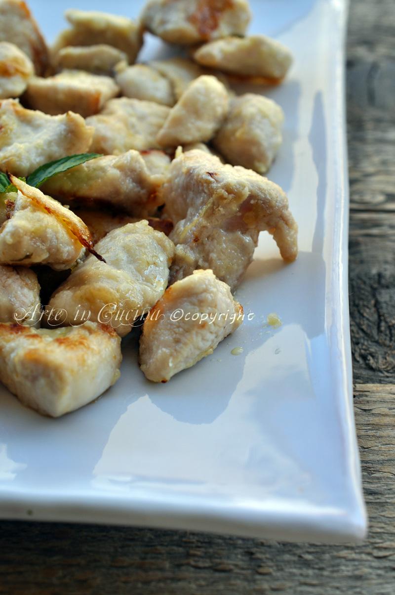 Bocconcini di pollo al limone vickyart arte in cucina