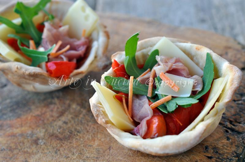 Cestini di pasta fillo salati ripieni vickyart