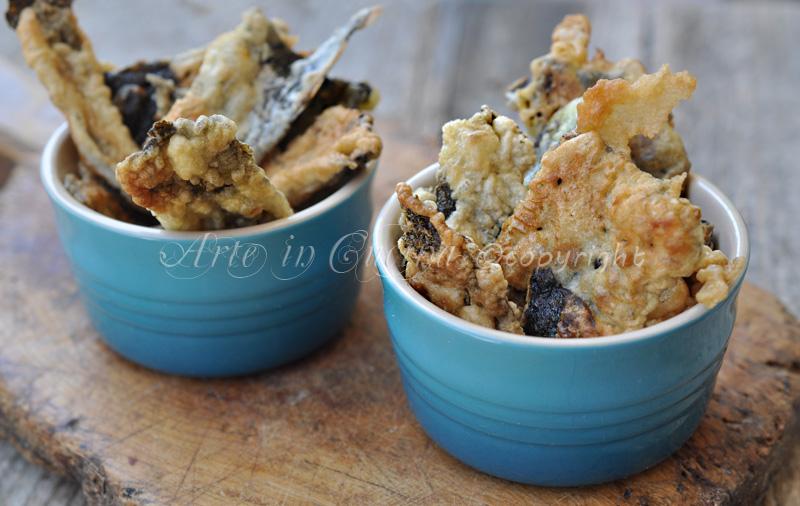Pizzette di alghe in tempura ricetta finger food vickyart