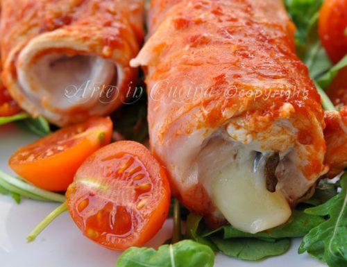 Involtini di pollo e prosciutto veloci