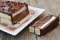 Mattonella fredda con wafer ricotta e cioccolato