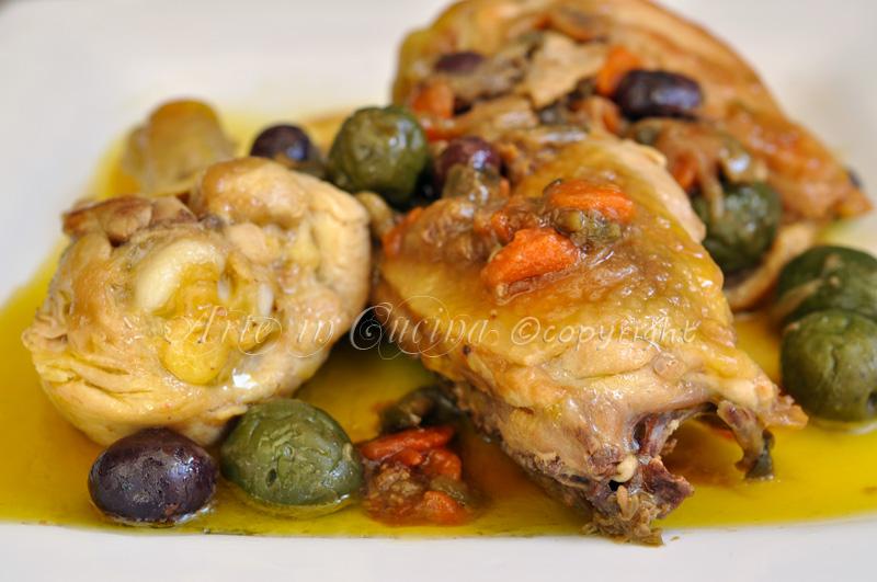 Pollo con olive e capperi a succhittu vickyart