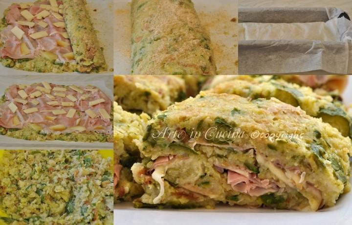 Polpettone di zucchine e formaggio filante
