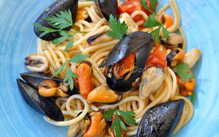 Spaghetti alle cozze primo piatto estivo