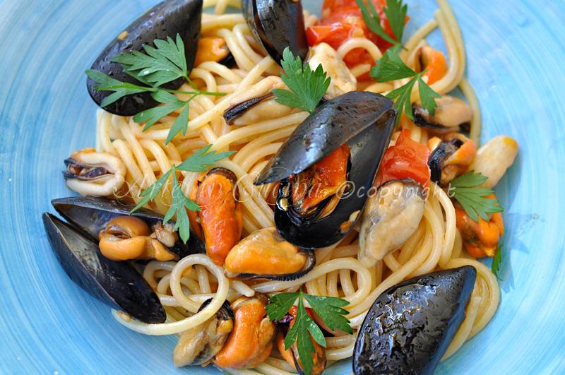 Spaghetti alle cozze primo piatto estivo vickyart