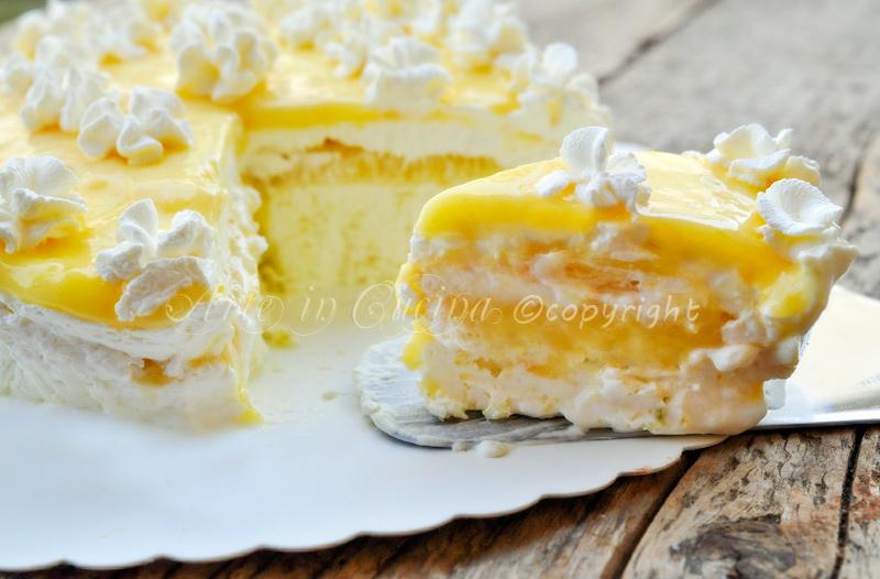 Torta gelato al limone ricetta facile vickyart arte in cucina