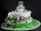 Torta Totoro con pasta di zucchero a 2 piani vickyart