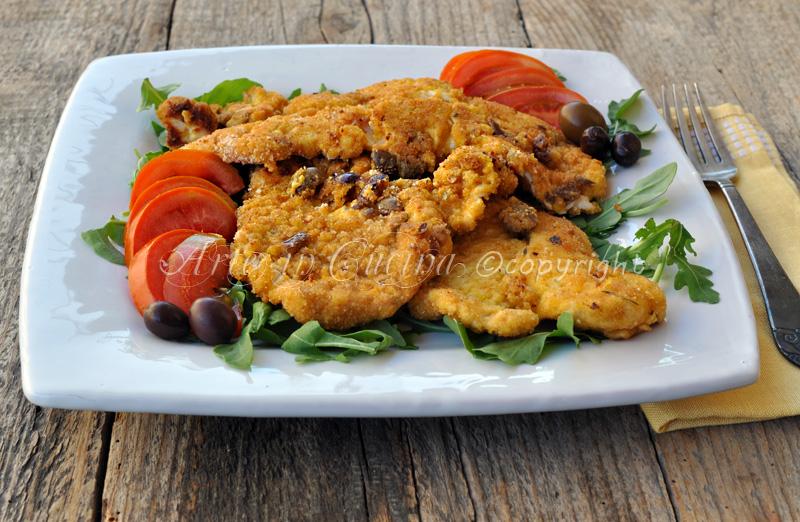 Cotolette di pollo con formaggio e olive vickyart arte in cucina