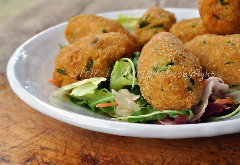 Crocchette di zucchine e patate secondo vickyart arte in cucina