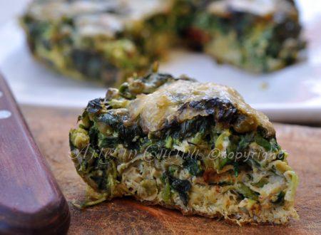 Frittata con crescione e gorgonzola