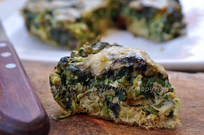 Frittata con crescione e gorgonzola vickyart arte in cucina