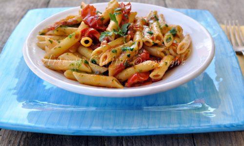 Pesto di rucola e pomodori ricetta veloce