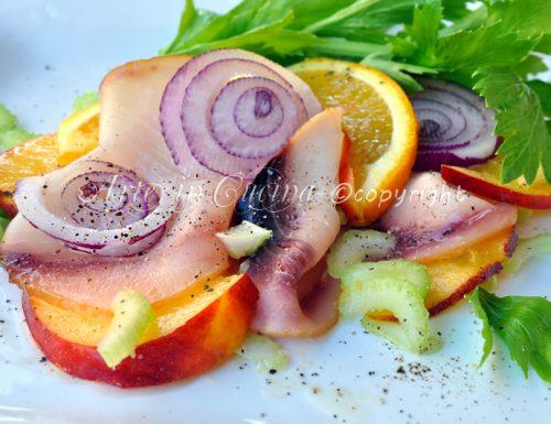 Pesce spada affumicato all'arancia ricetta