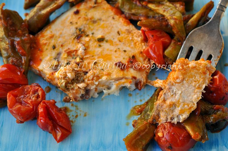 Pesce spada con pomodorini in padella vickyart arte in cucina