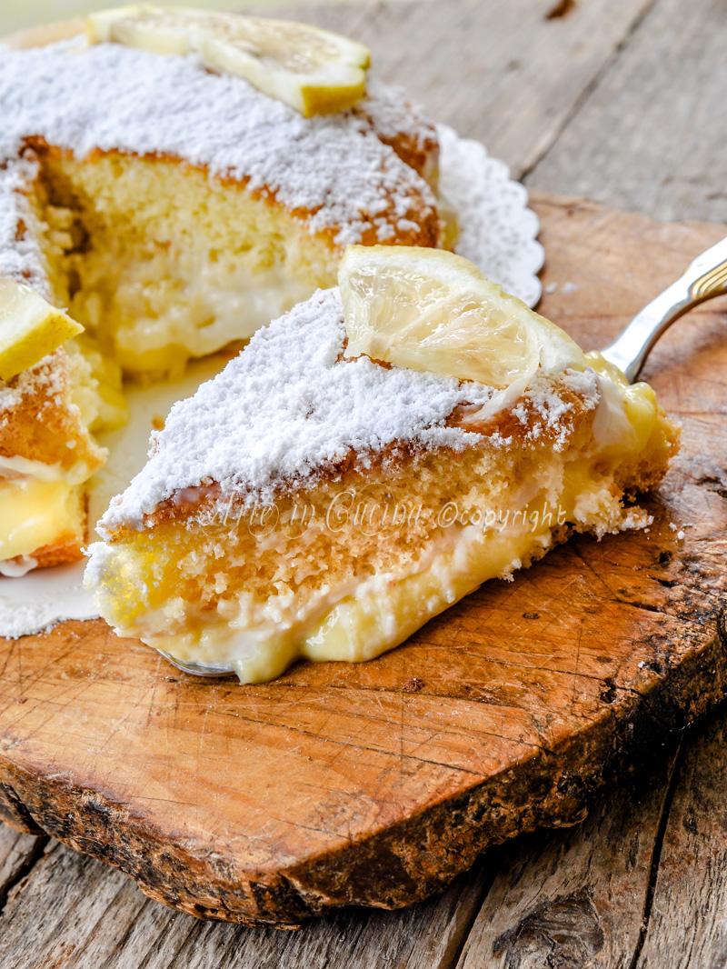 Torta al limoncello e mascarpone ricetta dolce vickyart arte in cucina