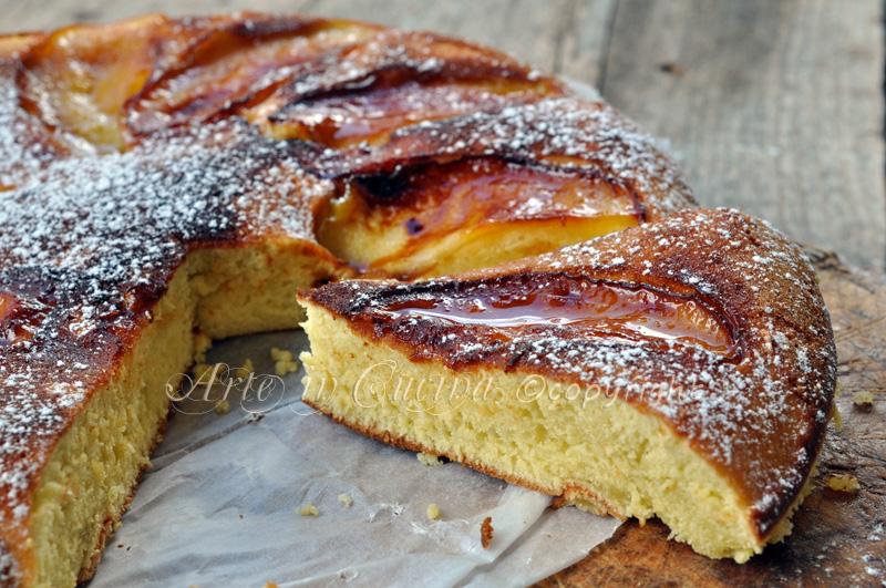 Torta alle mele in padella ricetta dolce arte in cucina - Cucina macrobiotica dolci ...