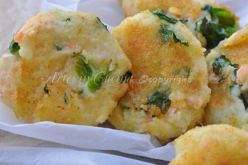 Tortine salate di patate e salmone vickyart arte in cucina
