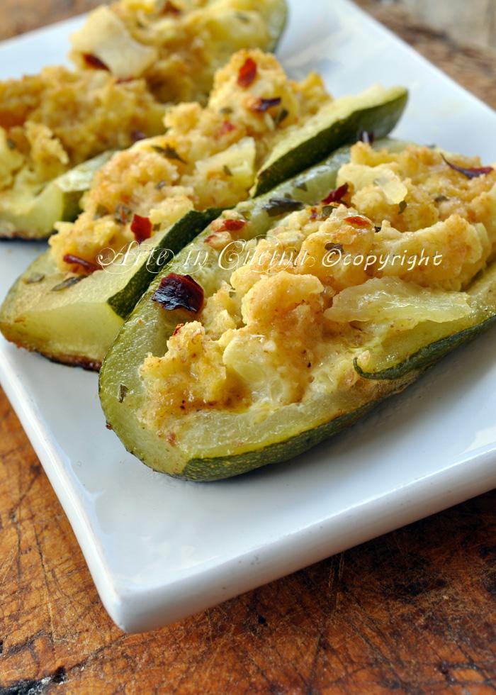 Zucchine ripiene ricetta economica veloce vickyart arte in cucina