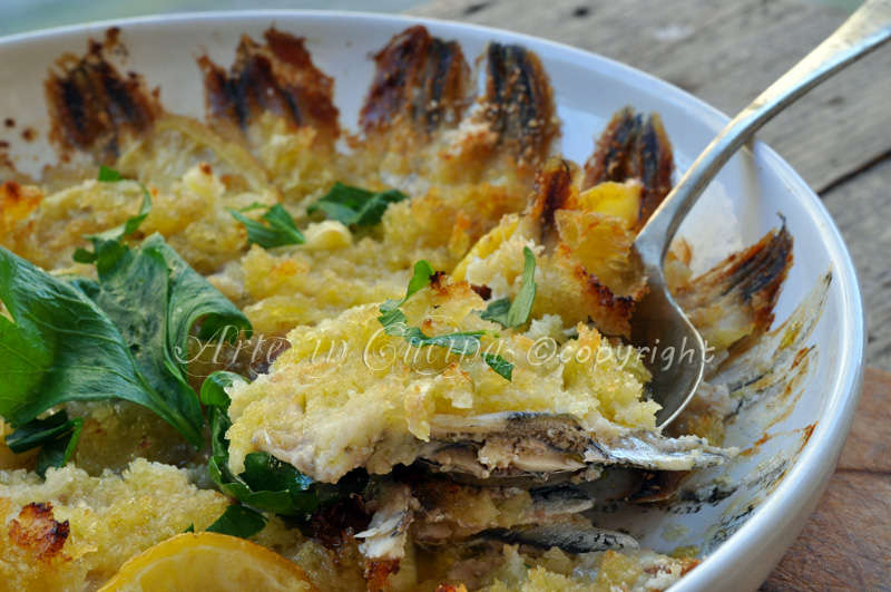 Alici in tortiera ricetta napoletana facile vickyart arte in cucina