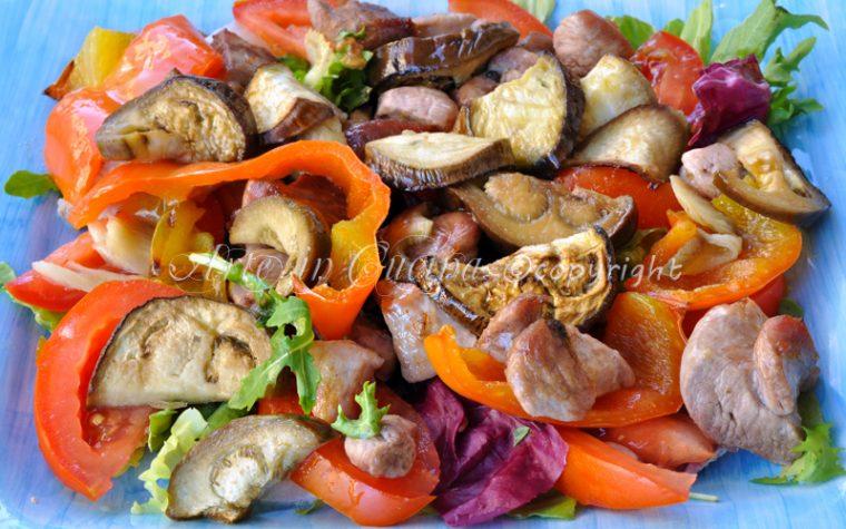 Bocconcini di tacchino con verdure light