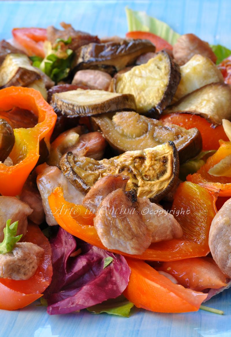 Bocconcini di tacchino con verdure light ricetta vickyart arte in cucina