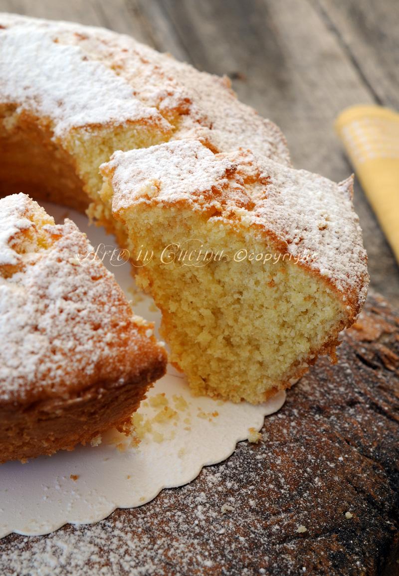 Ciambella alla panna e limone soffice facile e veloce vickyart arte in cucina
