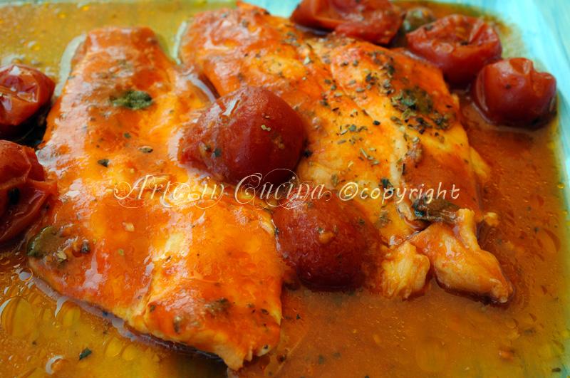 filetti di platessa al pomodoro ricetta leggera veloce vickyart arte in cucina