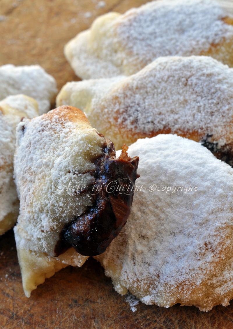 Panzerotti alla nutella ricetta dolce veloce vickyart arte in cucina