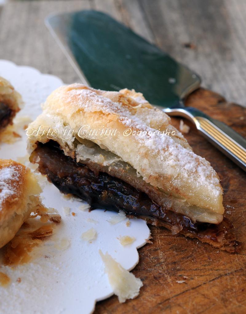 Torta sfogliata pere cioccolato nutella ricetta veloce vickyart arte in cucina