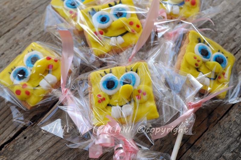 Bien-aimé Biscotti spongebob su stecco per feste bambini | Arte in Cucina HQ23