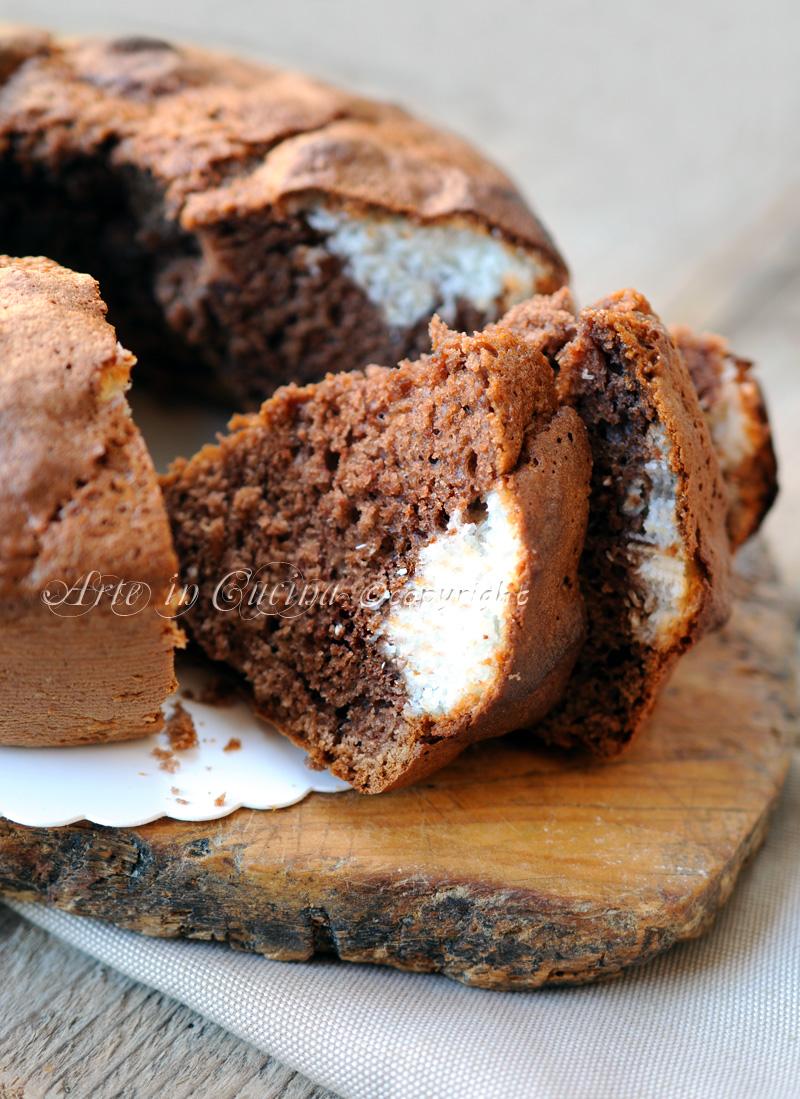 Ciambella alla nutella cuore di cocco bimby o senza vickyart arte in cucina