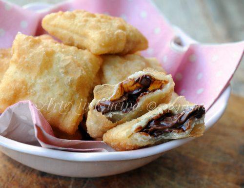 Gnocco fritto ripieno alla nutella ricetta veloce