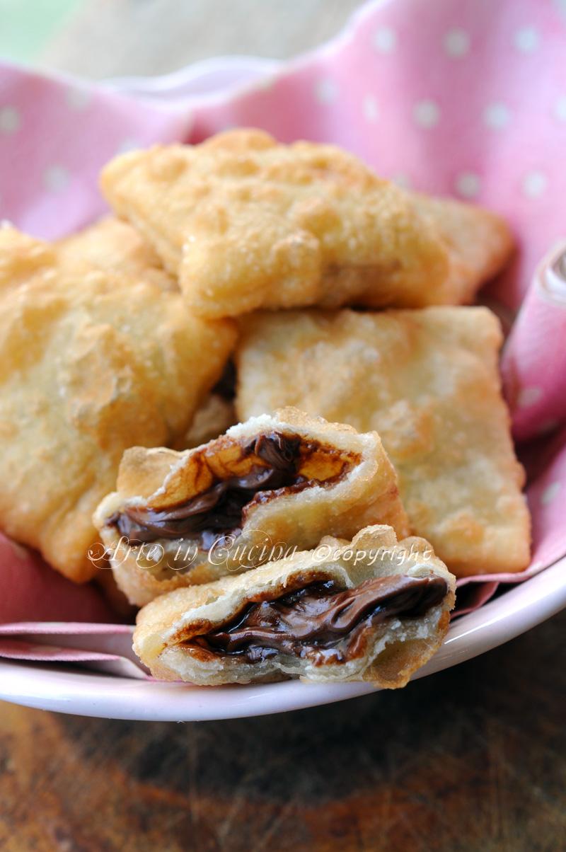 Gnocco fritto ripieno alla nutella ricetta veloce arte - Gnocco in cucina ...