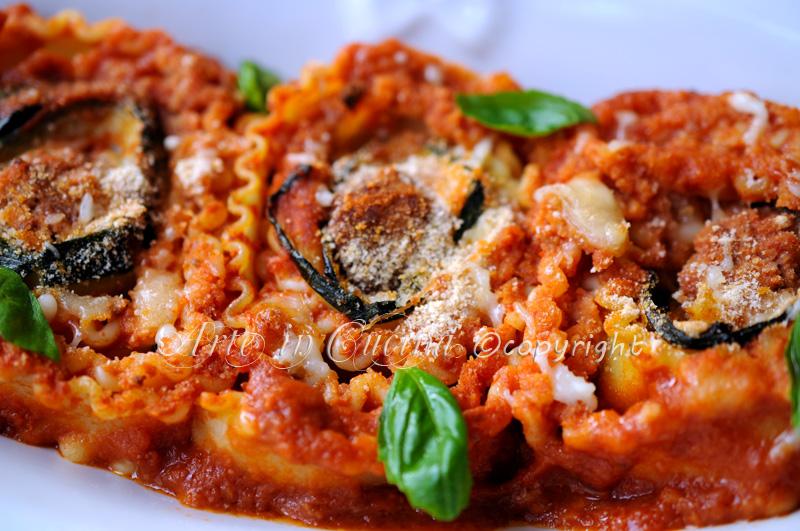 Reginette al forno con polpette zucchine e formaggio vickyart arte in cucina
