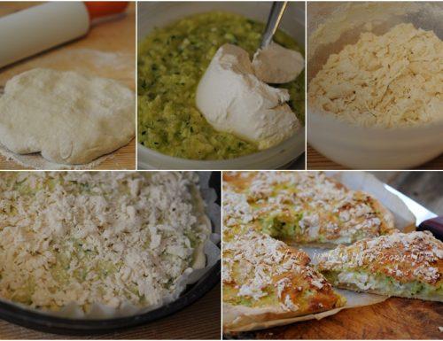 Sbriciolata salata con patate e zucchine veloce