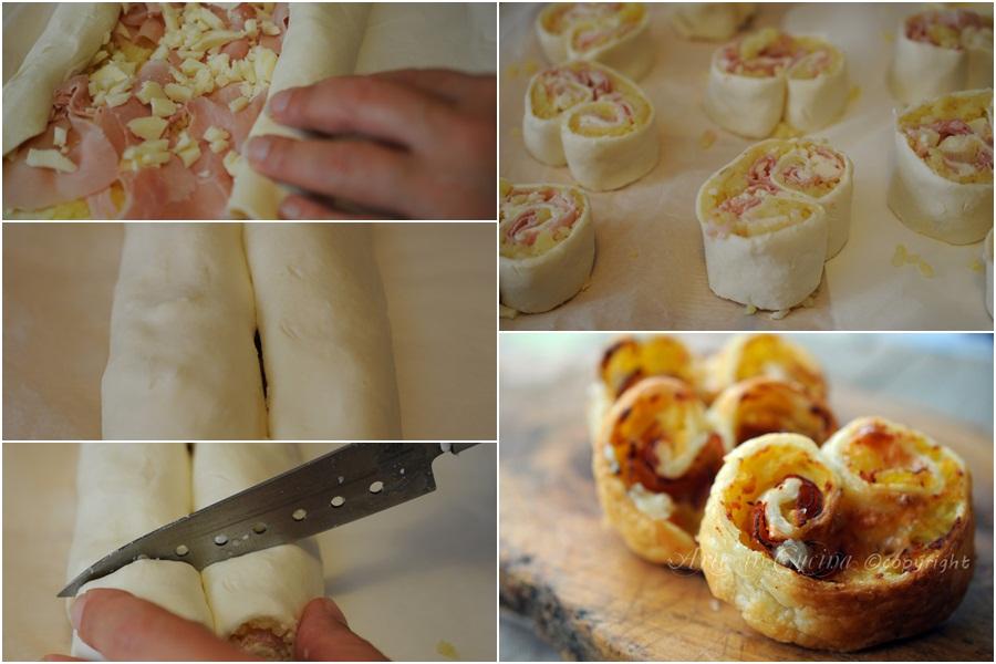 Ventaglietti salati ripieni con patate e prosciutto vickyart arte in cucina