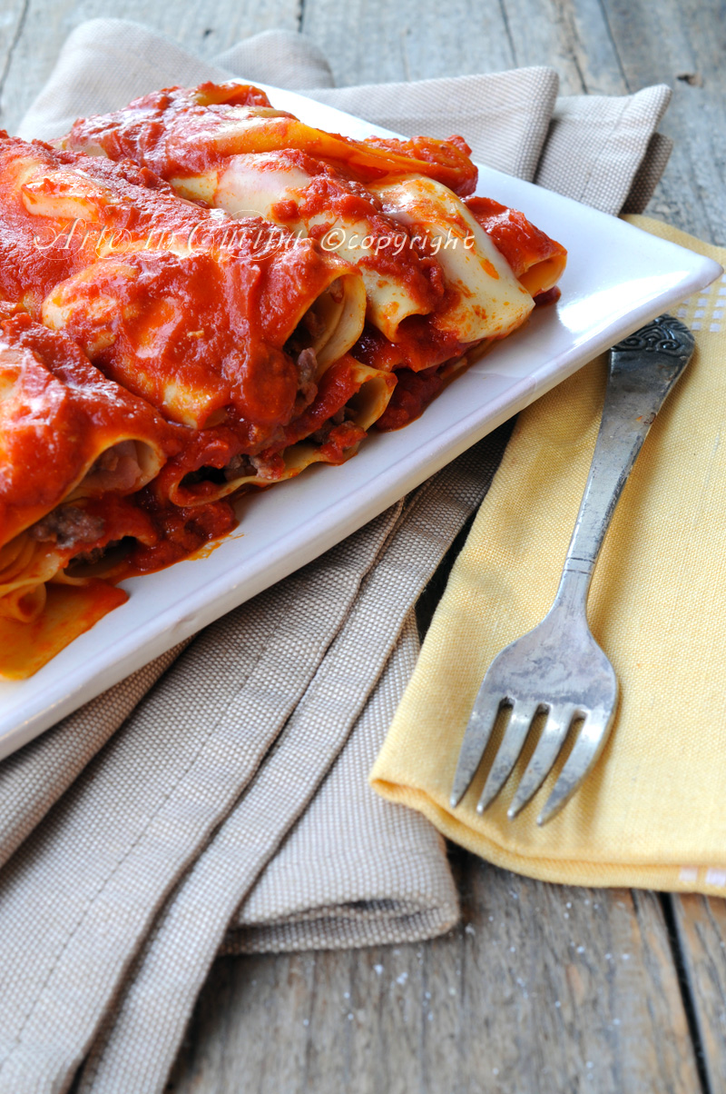 Cannelloni ripieni di carne e ricotta con peperoni vickyart arte in cucina