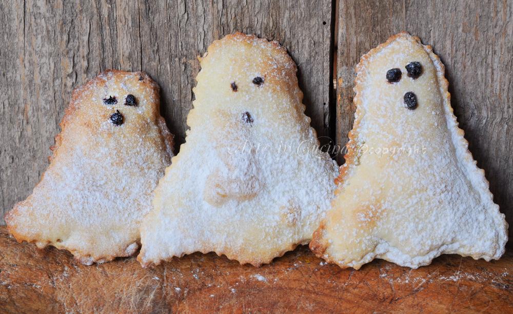 Fantasmini dolci di halloween ripieni alla nutella vickyart arte in cucina