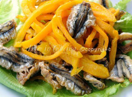Frittura di alici e peperoni ricetta sarda