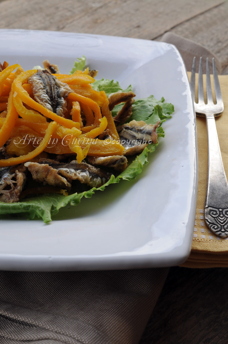 Frittura di alici e peperoni ricetta sarda vickyart arte in cucina