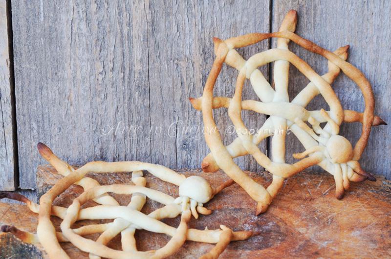 Ragnatele per halloween stuzzichini salati vickyart arte in cucina