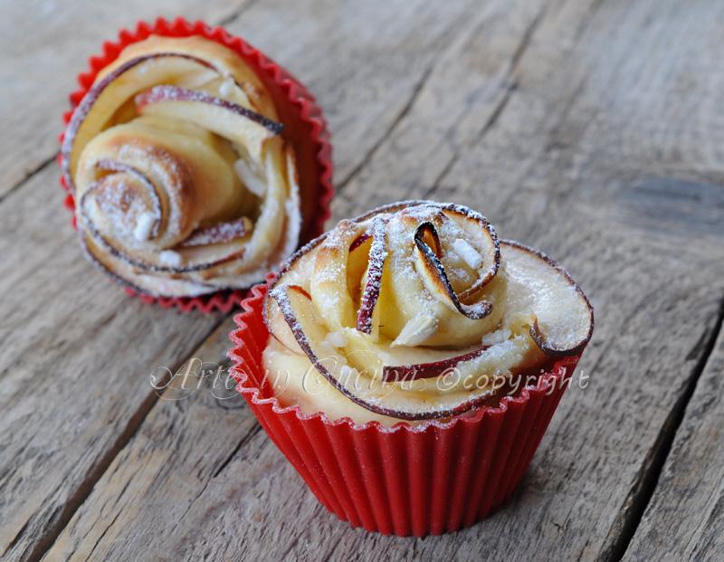 Rose di pan brioche alle mele vickyart arte in cucina